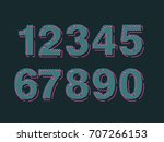 element  set of ten numbers... | Shutterstock .eps vector #707266153