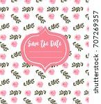 wedding invitation template...   Shutterstock .eps vector #707269357