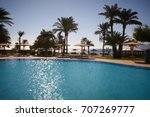 beautiful swimming pool with...   Shutterstock . vector #707269777