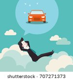 relaxed and successful business ... | Shutterstock .eps vector #707271373