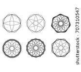 geometric pattern symbols... | Shutterstock .eps vector #707310547