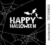 happy halloween vector banner ... | Shutterstock .eps vector #707330833