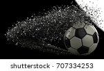soccer ball with particles. 3d... | Shutterstock . vector #707334253