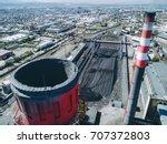 aerial view smokestack | Shutterstock . vector #707372803
