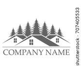 house building logo design... | Shutterstock .eps vector #707405533