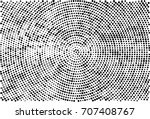 halftone radial black and white.... | Shutterstock . vector #707408767