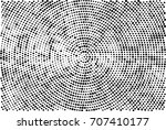 halftone radial black and white.... | Shutterstock . vector #707410177
