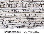 african textiles at a market... | Shutterstock . vector #707412367