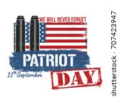 patriot day poster or card on...   Shutterstock .eps vector #707423947
