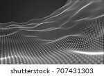 abstract polygonal space low... | Shutterstock . vector #707431303
