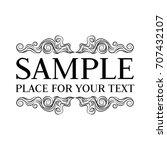 vector frame. calligraphic... | Shutterstock .eps vector #707432107