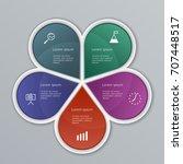 infographic elements set.... | Shutterstock .eps vector #707448517