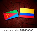 eritrean flag with colombian... | Shutterstock . vector #707456863