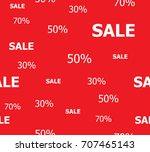 sale banner seamless pattern... | Shutterstock .eps vector #707465143