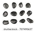 pile black rocks  set ... | Shutterstock . vector #707490637