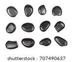 pile black rocks  set ... | Shutterstock . vector #707490637