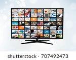 widescreen ultra high... | Shutterstock . vector #707492473