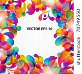 abstract background with bright ... | Shutterstock .eps vector #70749550