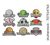 9 sport logo vector emblem | Shutterstock .eps vector #707514763