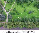 top view of parks in st.... | Shutterstock . vector #707535763