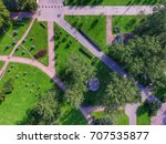 top view of parks in st.... | Shutterstock . vector #707535877