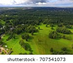 top view of parks in st.... | Shutterstock . vector #707541073