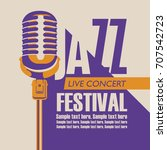 vector poster for a jazz... | Shutterstock .eps vector #707542723