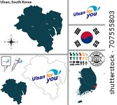 vector map of ulsan  ... | Shutterstock .eps vector #707555803