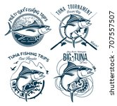 tuna vector logos. sport... | Shutterstock .eps vector #707557507
