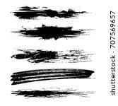 vector shape brush strokes on... | Shutterstock .eps vector #707569657