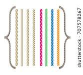 rope brushes   Shutterstock .eps vector #707578267