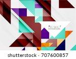 triangle pattern design... | Shutterstock . vector #707600857