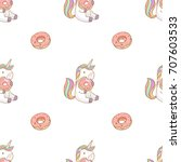 vector seamless pattern with... | Shutterstock .eps vector #707603533