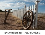 Old Wooden Wagon Wheel Is...