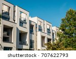 real estate picture of white... | Shutterstock . vector #707622793