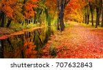 autumn landscape beautiful... | Shutterstock . vector #707632843