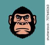 head monkey illustration.... | Shutterstock .eps vector #707660263