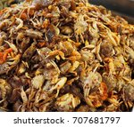 korean small crab snacks | Shutterstock . vector #707681797