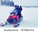 rovaniemi  finland   march 2 ... | Shutterstock . vector #707684713