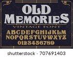 vintage font handcrafted vector ... | Shutterstock .eps vector #707691403