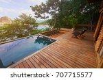 Luxury Villa Patio From Wood....
