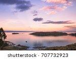 isla del sol  titicaca lake ...   Shutterstock . vector #707732923