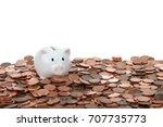 One Small White Piggy Bank...
