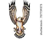 tattoo style illustration of an ... | Shutterstock . vector #707739373