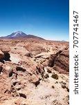 volcano ollague  between...   Shutterstock . vector #707741467