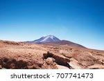 volcano ollague  between...   Shutterstock . vector #707741473