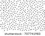 black and white memphis pattern.... | Shutterstock .eps vector #707741983