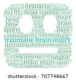 traumatic brain injury word...   Shutterstock .eps vector #707748667