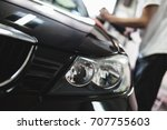car detailing   hands with... | Shutterstock . vector #707755603