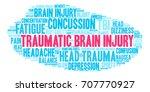 traumatic brain injury word...   Shutterstock .eps vector #707770927
